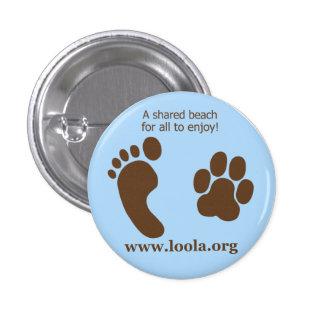 Oval LOOLAorg Metal Button
