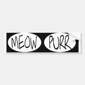 oval MEOW PURRBUMPER STICKERS meow purr ... cat lo