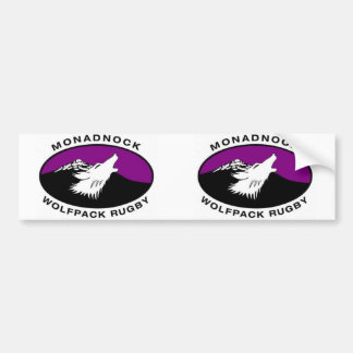 Oval Monadnock Wolfpack Rugby Bumper Sticker