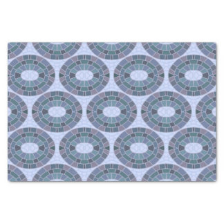 Oval mosaic tiles tissue paper