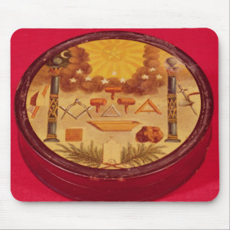 Oval painted box, with symbols of Freemasonry Mouse Pad