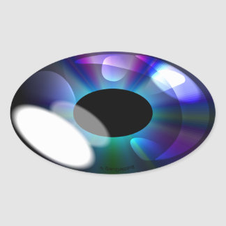 Oval shiny eye stickers