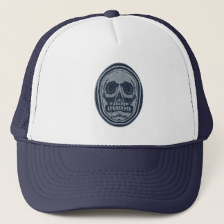 Oval Skull -Blue & Grey Trucker Hat
