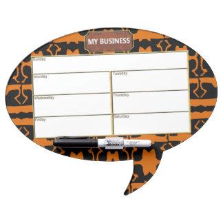 Oval Speech Bubble w/ Pen Dry Erase Board