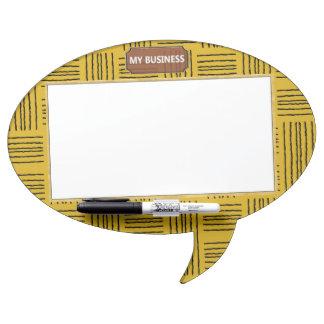 Oval Speech Bubble w/ Pen Dry Erase Plain Board 2