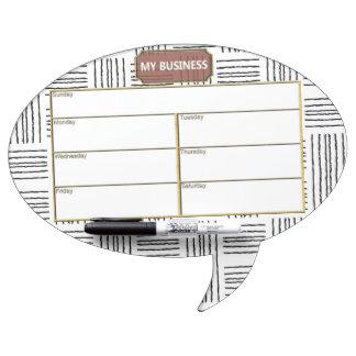 Oval Speech Bubble w/ Pen Dry Erase White/B Board