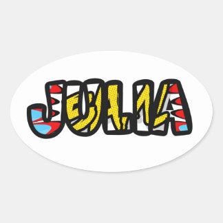 Oval sticker Julia