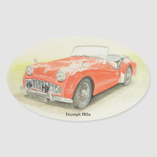 Oval Sticker Triumph TR3a design
