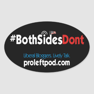 Oval Stickers (4/pg) - #BothSidesDont