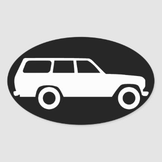 Oval Toyota Land Cruiser 60 Series Icon Sticker B
