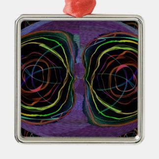 Ovale rond YEUX de cercle d'étincelle étrangère de Décorations De Noël