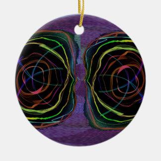 Ovale rond YEUX de cercle d'étincelle étrangère de Ornements