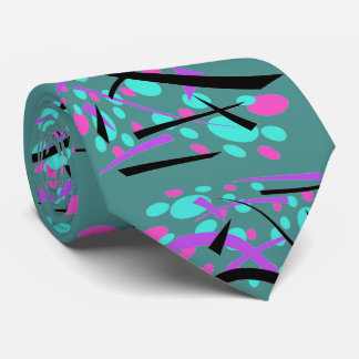 Ovals and Curves Stylish Retro Design Tie