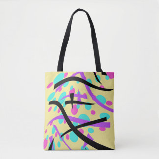 Ovals and Curves Stylish Retro Design - Tote Bag