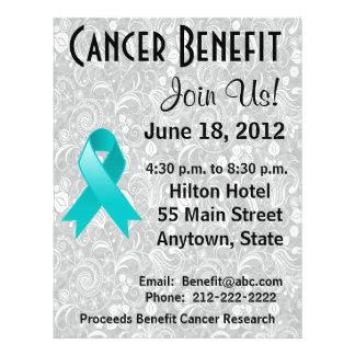 Ovarian Cancer Awareness Benefit Gray Floral Flyer