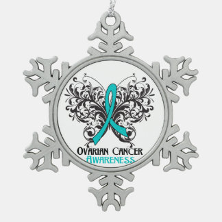 Ovarian Cancer Awareness Butterfly Ornaments