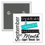 Ovarian Cancer AWARENESS Month 4 2 Inch Square Button