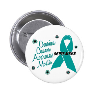 Ovarian Cancer Awareness Month Flowers 1 2 Inch Round Button