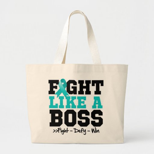 Ovarian Cancer Fight Like a Boss Tote Bag