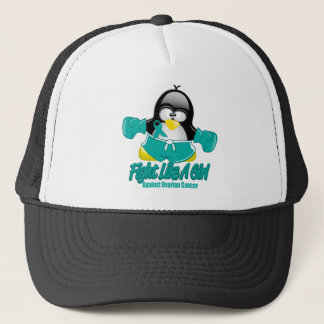 Ovarian Cancer Fighting Penguin Trucker Hat