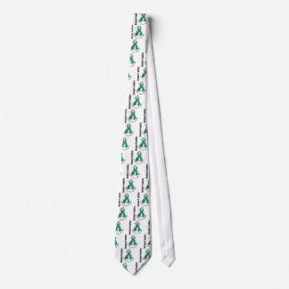 Ovarian Cancer Flower Ribbon 3 Tie