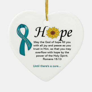 Ovarian Cancer Hope Christmas Ornament