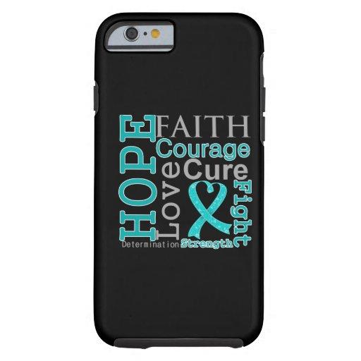 Ovarian Cancer Hope Faith Motto iPhone 6 Case