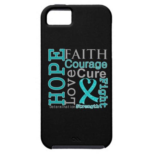 Ovarian Cancer Hope Faith Motto iPhone 5 Case