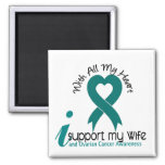 Ovarian Cancer I Support My Wife Fridge Magnet