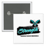 Ovarian Cancer Strength Butterfly 2 Inch Square Button