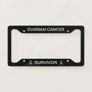 Ovarian Cancer Survivor Ribbon License Frame