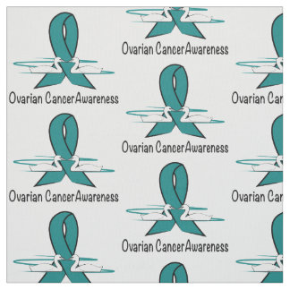 Ovarian Cancer Swans of Hope Fabric