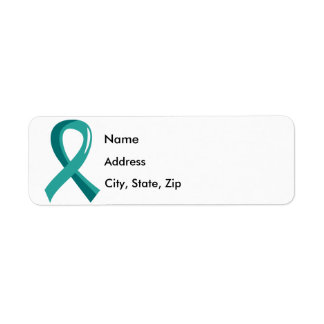 Ovarian Cancer Teal Ribbon 3