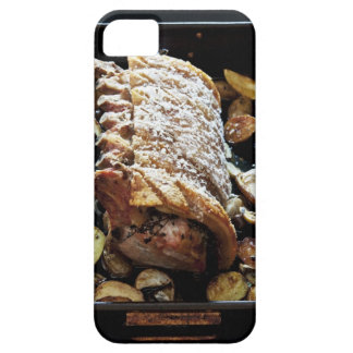 Oven Roaste zpork Loin with crackling, potatoes iPhone 5 Cases