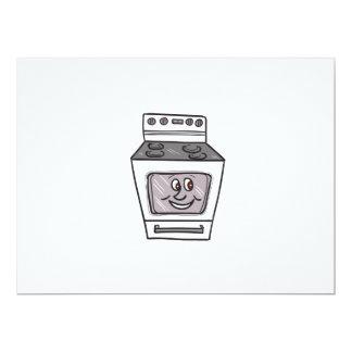 "Oven Smiley Face Cartoon 6.5"" X 8.75"" Invitation Card"