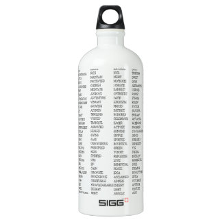 Over 600 Positive Words! Water Bottle