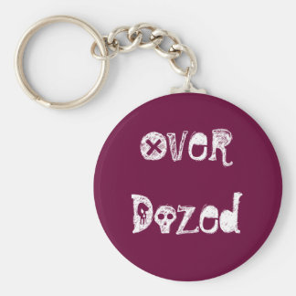 Over Dozed Music Keychain