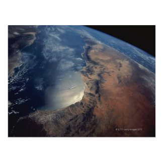 Over Gulf of Aden and Somalia Postcard