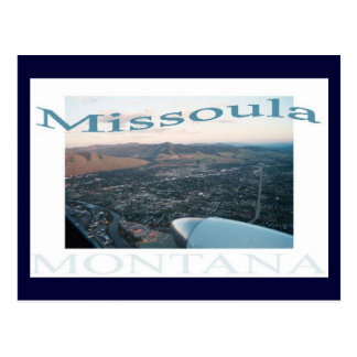Over Missoula, Montana Postcard