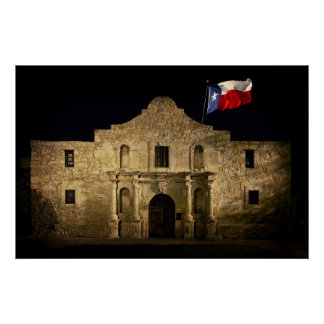 OVER OUR ALAMO ... THE LONE STAR STILL WAVES POSTER