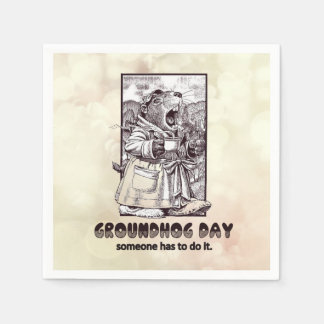 Over Rated? Groundhog Day Party Paper Napkins