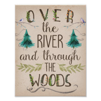Over River And Through The Woods Woodland Print