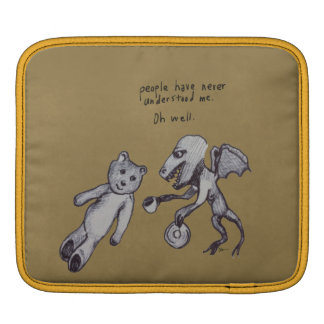 Over Tea Dragon and Bear iPad Sleeve