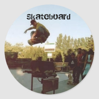 over the BBQ, Skateboard Classic Round Sticker