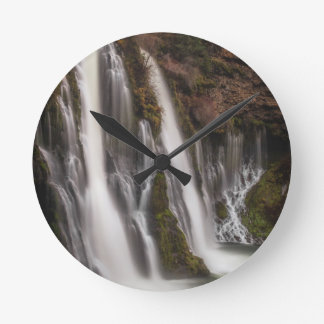Over the Edge Burney Falls Round Clock
