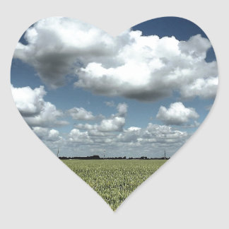 Over the fields we go heart sticker