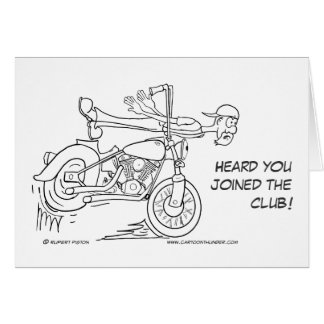 Over the Handlebars Get Well Card