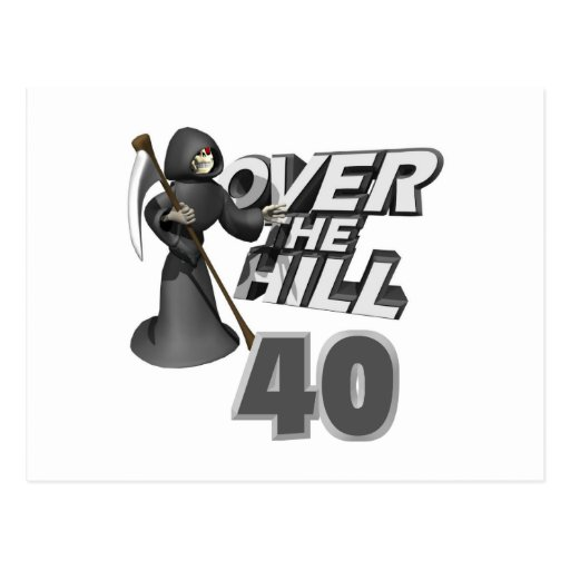 Over The Hill 40th Birthday Gift Postcards