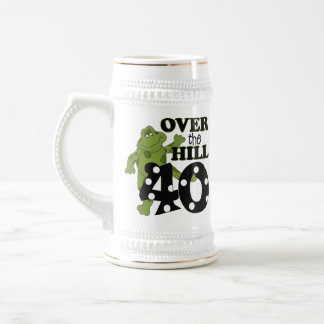 Over The Hill 40th Birthday Mugs