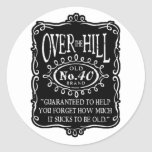 Over The Hill 40th Birthday Stickers